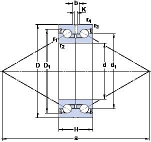 SKF BEAS 030062-2RS angular contact thrust ball bearings for screw drives