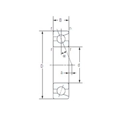 35 mm x 72 mm x 17 mm  NACHI 7207C High Reliability Precision Bearings