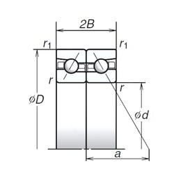 70 mm x 110 mm x 18 mm  NSK 70BAR10S duplex angular contact ball bearings