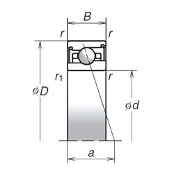 40 mm x 62 mm x 14 mm  NSK 40BER29SV1V Matched Angular Contact Ball Bearings