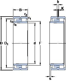 130 mm x 180 mm x 50 mm  SKF NNU 4926 BK/SPW33 Axial angular contact ball bearings