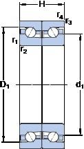 SKF BTM 60 ATN9/HCP4CDB Duplex angular contact ball bearings