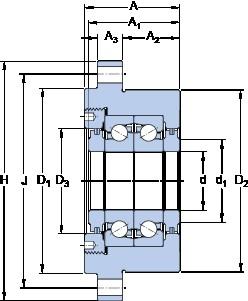 SKF FBSA 206/DF Axial angular contact ball bearings