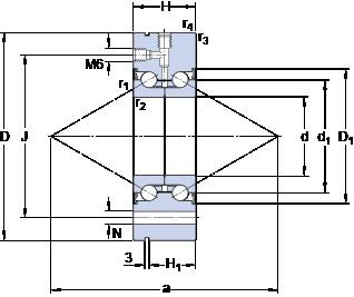 SKF BEAM 025075-2RS angular contact thrust ball bearings for screw drives