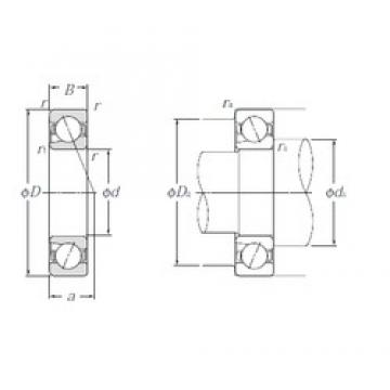 12 mm x 32 mm x 10 mm  NTN 5S-BNT201 Pressed Steel Cages Single-Row Angular Contact Ball Bearings