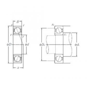 45 mm x 75 mm x 16 mm  NTN BNT009 Matched Angular Contact Ball Bearings