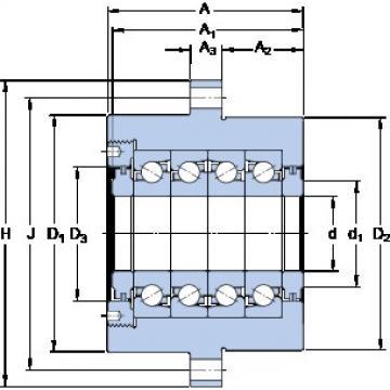 SKF FBSA 206/QFC Axial angular contact ball bearings