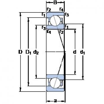95 mm x 130 mm x 18 mm  SKF 71919 ACE/P4A Duplex angular contact ball bearings