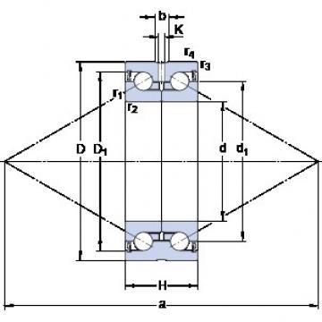 SKF BEAS 012042-2RS Axial angular contact ball bearings