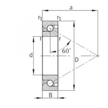 45 mm x 100 mm x 20 mm  FAG BSB045100-T Face-to-face duplex arrangement Bearings