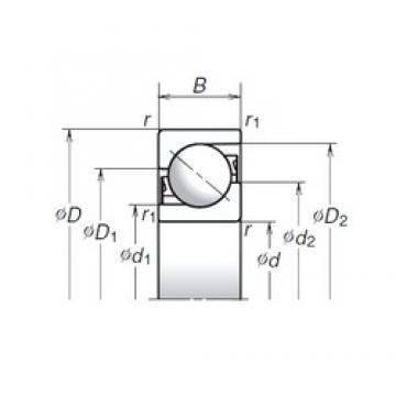 120 mm x 260 mm x 55 mm  NSK 120TAC03CMC Axial angular contact ball bearings