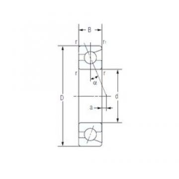 12 mm x 24 mm x 6 mm  NACHI 7901C High Accuracy Precision Bearings
