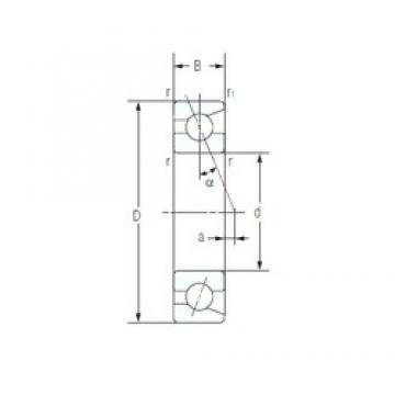 40 mm x 68 mm x 15 mm  NACHI 7008AC Pressed Steel Cages Single-Row Angular Contact Ball Bearings