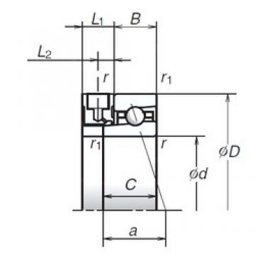 70 mm x 100 mm x 16 mm  NSK 70BER19XE Axial angular contact ball bearings