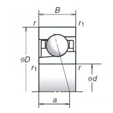 20 mm x 47 mm x 14 mm  NSK 20BGR02S angular contact thrust ball bearings for screw drives