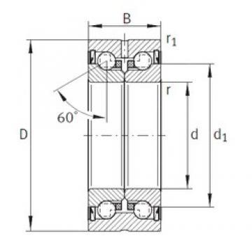 35 mm x 72 mm x 34 mm  INA ZKLN3572-2RS Face-to-face duplex arrangement Bearings