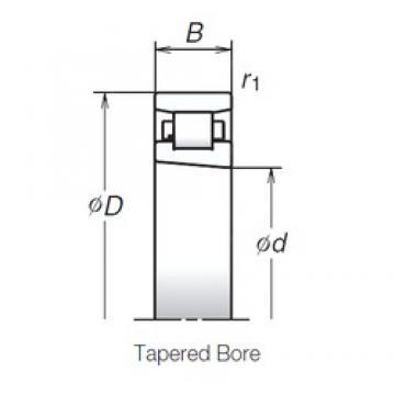 110 mm x 170 mm x 28 mm  NSK N1022BMR1KR angular contact thrust ball bearings for screw drives