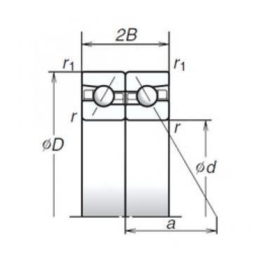 180 mm x 280 mm x 45 mm  NSK 180BTR10S High Reliability Precision Bearings