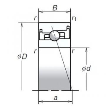 70 mm x 110 mm x 24 mm  NSK 70BNR20XV1V Duplex angular contact ball bearings