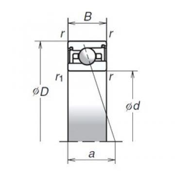 85 mm x 120 mm x 22 mm  NSK 85BER29SV1V duplex angular contact ball bearings