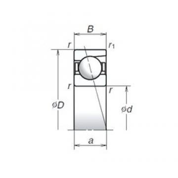 6 mm x 19 mm x 6 mm  NSK 726A angular contact thrust ball bearings for screw drives