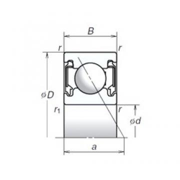 10 mm x 26 mm x 8 mm  NSK 10BSA10T1X aerospace applications Precision Bearings
