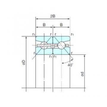 140 mm x 210 mm x 31,5 mm  NACHI 140TBH10DB aerospace applications Precision Bearings