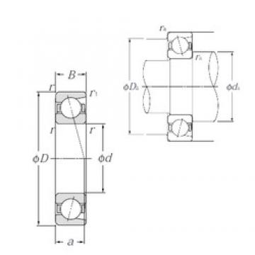 45 mm x 58 mm x 7 mm  NTN 7809C Reduced Torque from Optimized Design Precision Bearings
