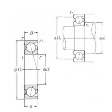 90 mm x 160 mm x 30 mm  NTN 7218C Duplex angular contact ball bearings