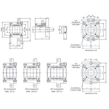 NSK WBK40DF-31 angular contact thrust ball bearings for screw drives