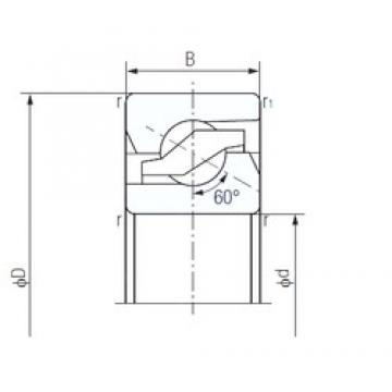 50 mm x 100 mm x 20 mm  NACHI 50TAB10 duplex angular contact ball bearings