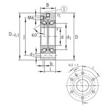 40 mm x 100 mm x 34 mm  INA ZKLF40100-2RS High Accuracy Precision Bearings