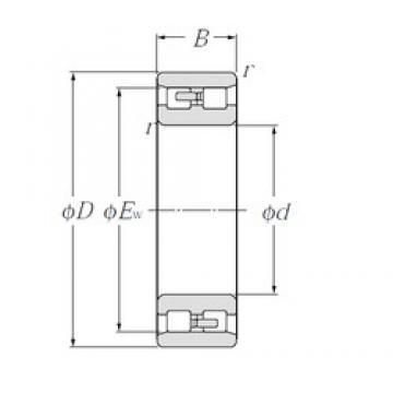 35 mm x 62 mm x 20 mm  NTN NN3007 duplex angular contact ball bearings