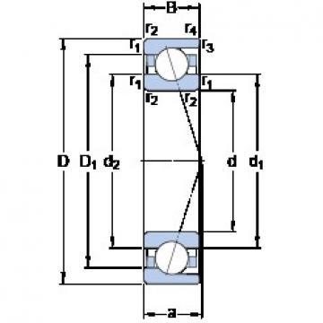 360 mm x 480 mm x 56 mm  SKF 71972 ACDMA/HCP4A Axial angular contact ball bearings