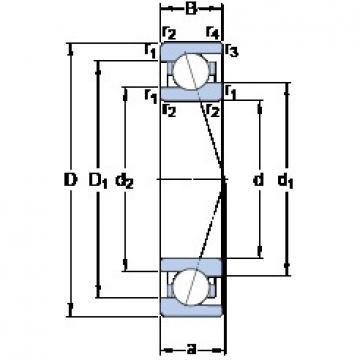 12 mm x 24 mm x 6 mm  SKF 71901 CE/HCP4A Duplex angular contact ball bearings