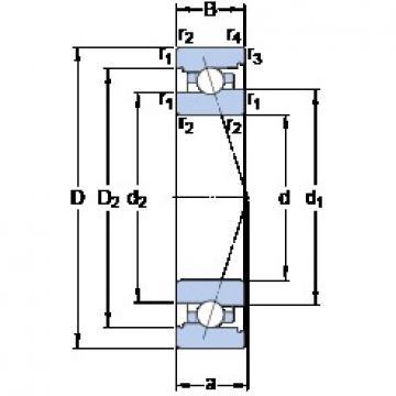 40 mm x 62 mm x 12 mm  SKF 71908 ACB/HCP4A Face-to-face duplex arrangement Bearings