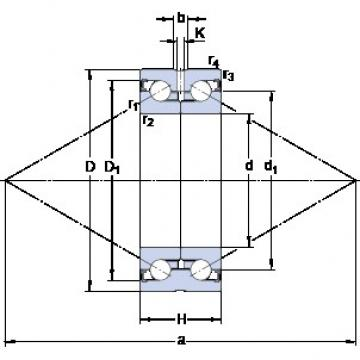 SKF BEAS 030062-2RZ angular contact thrust ball bearings for screw drives