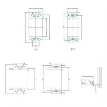 110 mm x 170 mm x 27 mm  SKF BTM 110 ATN9/HCP4CDB Machined Brass Cages Angular Contact Ball Bearings