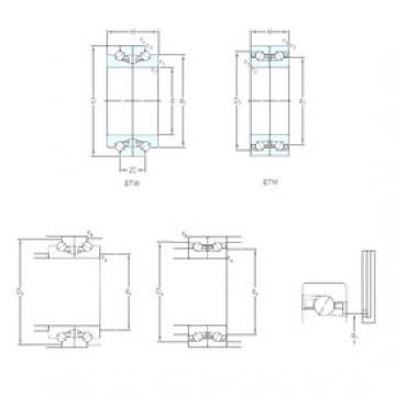 180 mm x 280 mm x 45 mm  SKF BTM 180 BM/P4CDB Reduced Torque from Optimized Design Precision Bearings
