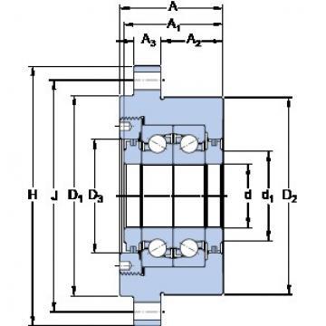 SKF FBSA 207/DF Duplex angular contact ball bearings
