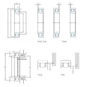 65 mm x 100 mm x 18 mm  SKF N 1013 KTNHA/SP Machined Brass Cages Angular Contact Ball Bearings