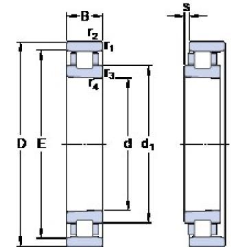 90 mm x 140 mm x 24 mm  SKF N 1018 KTN9/SP angular contact thrust ball bearings for screw drives