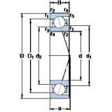 60 mm x 85 mm x 13 mm  SKF 71912 CE/HCP4A High Accuracy Precision Bearings