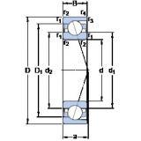 20 mm x 37 mm x 9 mm  SKF 71904 CD/HCP4A angular contact thrust ball bearings for screw drives