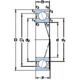 25 mm x 52 mm x 15 mm  SKF 7205 CD/P4A Matched Angular Contact Ball Bearings