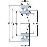 45 mm x 75 mm x 16 mm  SKF 7009 ACB/HCP4A High Accuracy Precision Bearings