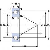 SKF BSD 60120 C Matched Angular Contact Ball Bearings