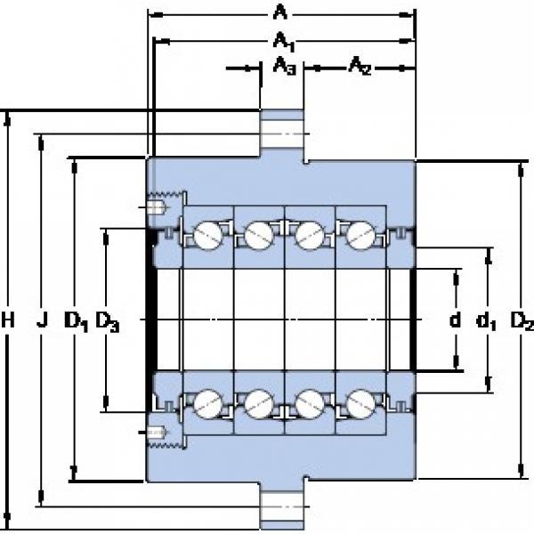 SKF FBSA 206/QFC Axial angular contact ball bearings #1 image