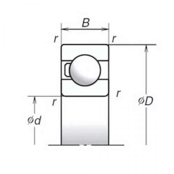 17 mm x 40 mm x 12 mm  NSK 6203T1X High Reliability Precision Bearings #1 image