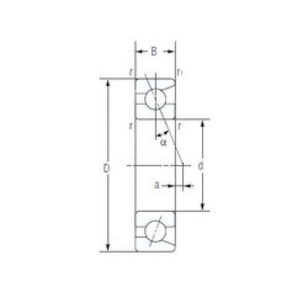 35 mm x 72 mm x 17 mm  NACHI 7207C High Reliability Precision Bearings #1 image